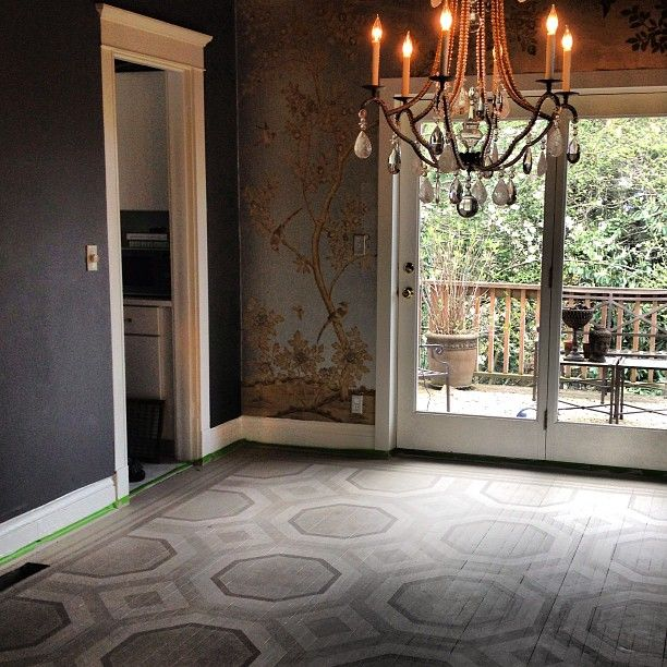 Painted Wood Dining Room Decorating: 17+ Best Images About Stenciled Floors On Pinterest