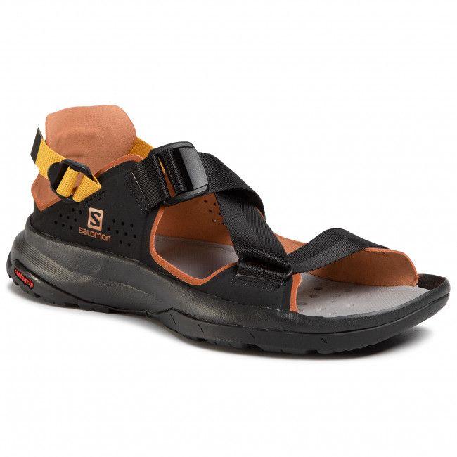 Sandaly Salomon Tech Sandal 409773 22 M0 Black Caramel Cafe Arrowwood Sandaly Codzienne Sandaly Klapki I Sandaly Damskie Eo Sandals Black Salomon