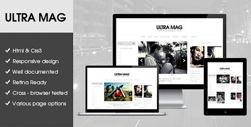 ThemeForest - Ultra Mag HTML5 template - RIP
