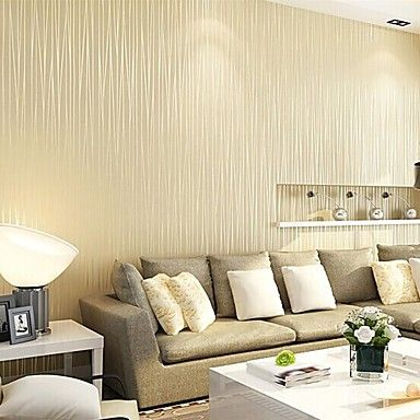 Contemporary Wallpaper Stripe Wall Covering Non-woven Paper Wall Art – AUD $ 45.75