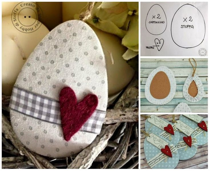 tutorial uova in cartone e stoffa