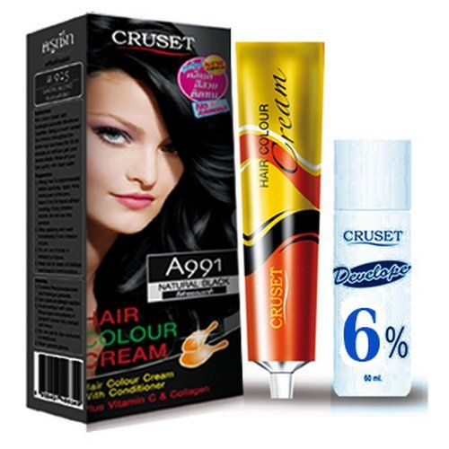 Pack of 2 Sets Curset A991 Natural Black Hair Color Cream Dye Free Shipping with Register Fashion Unisex * Check this useful article by going to the link at the image. #hairhowto