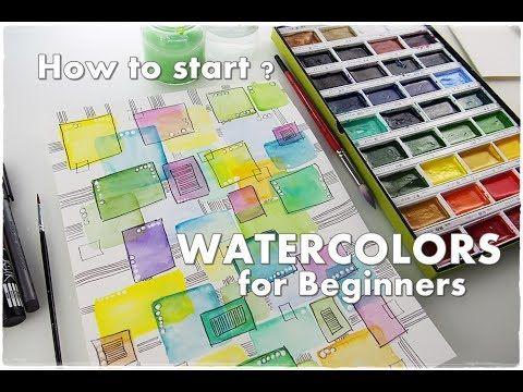 BEGINNERS Technique ♡ How to Break A Blank Page WATERCOLOR #2 ♡ Maremi's Small Art ♡ - YouTube