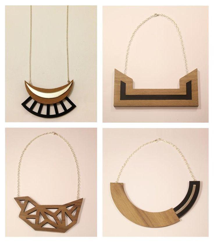 Wood & Acrylic Geometric Jewellery - https://www.facebook.com/milekijewellery