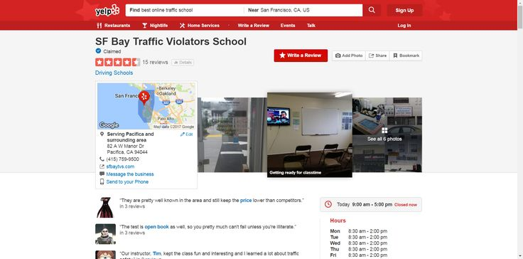 SF Bay Traffic Violators School - 15 Reviews - Driving Schools - 82 A W Manor Dr, Pacifica, CA - Phone Number - Yelp