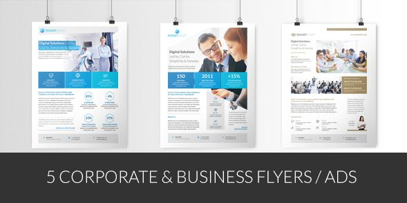 A pack of 5 corporate flyer for your business #design #flyer #corporate #business #template