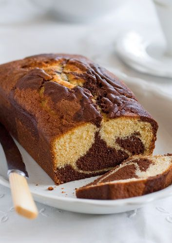This swirling marble cake is a retro crowd pleaser and will keep for 3–4 days.