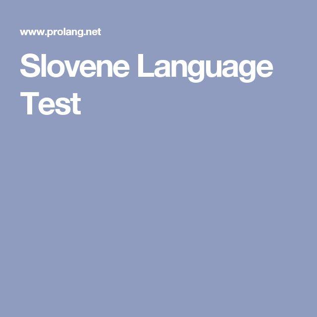 Slovene Language Test