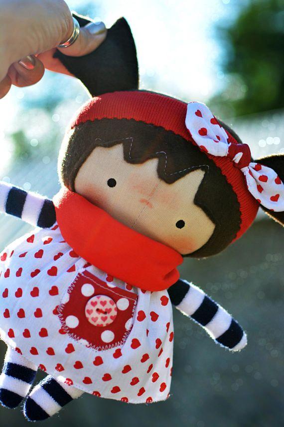 Dress up cloth doll Handmade rag doll Toddler gift Plush