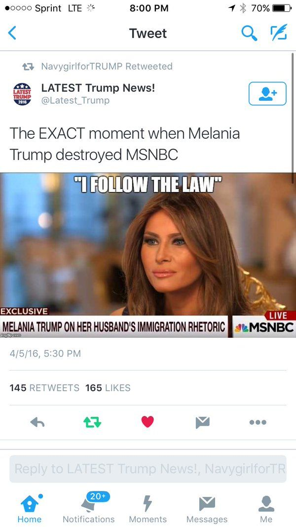 Melania Trump will be a great First Lady, she will be the return of class, elegance, intelligence, refinement and beauty to our White House