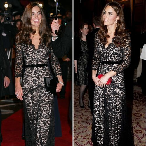 Kate Middleton style - classic lace gown