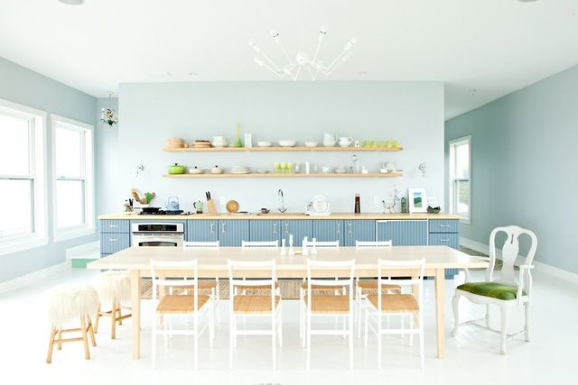 Lately a single hue has been taking the kitchen by storm. Whether it's baby blue, or navy, or anything in between, blue is a lovely color for your kitchen. Feast your eves on these 20 examples.