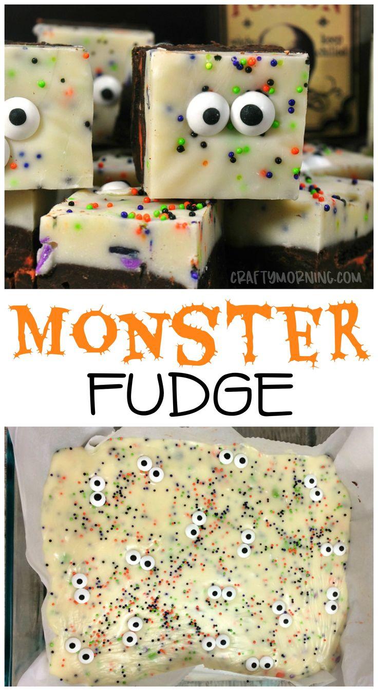 Halloween monster fudge…what a fun halloween tre…