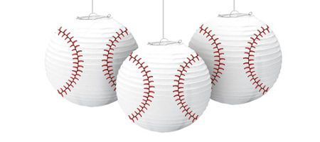Baseball Party Supplies - Party City $7.99 for 3. lots of other great baseball stuff!
