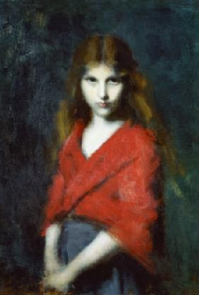 Jean-Jacques Henner - Portrait of a Young Girl, The Shiverer