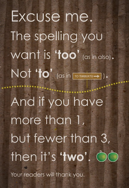 Grammar Illustrated: Two, Too and To