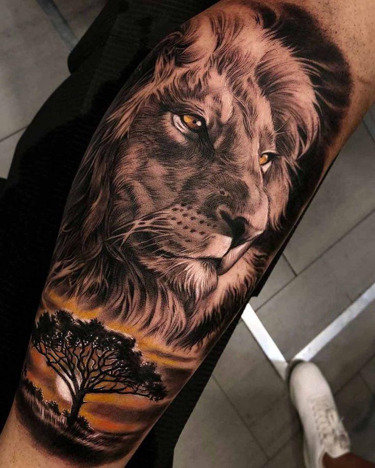 Lion Tattoo Design Men Tattoo Trends Realistic Arm Tattoo Ideas