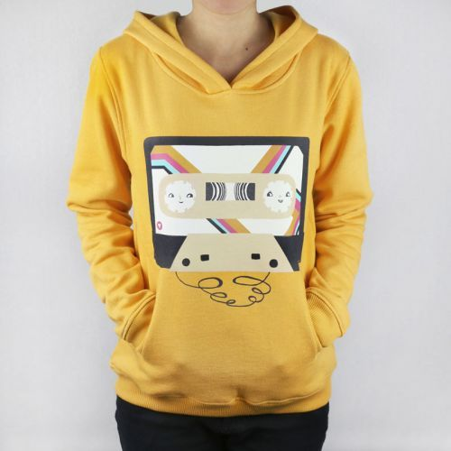 Monsterthreads Hoodie - Mix Tape by Laura Berger