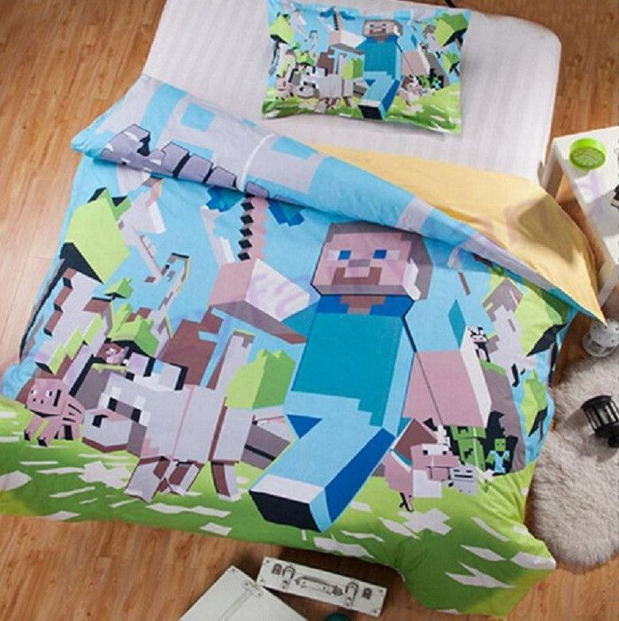Die besten 17 ideen zu minecraft bedding auf pinterest for Minecraft bedroom set