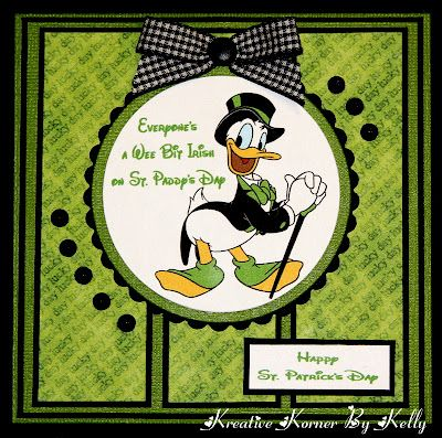 handmade St. Patrick's Day card ... Disney theme with Donald Duck ... like the…