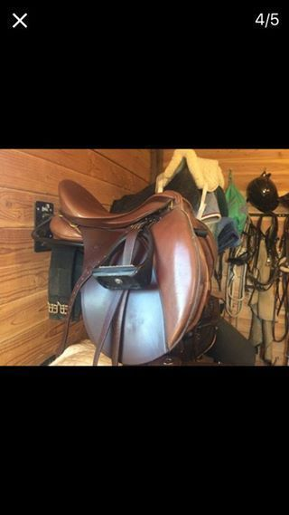 "jumping saddle 17"" 32cm Tree  Theo Sommer  #Stubben"