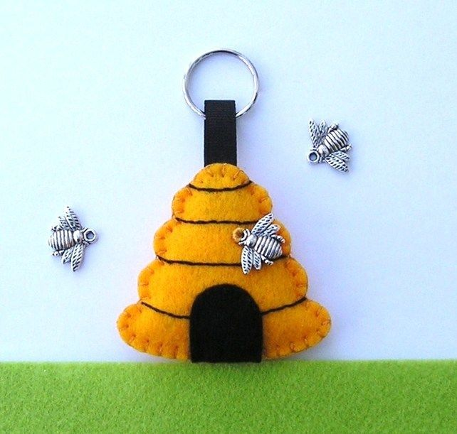 Beehive and Bee Key ring £7.95
