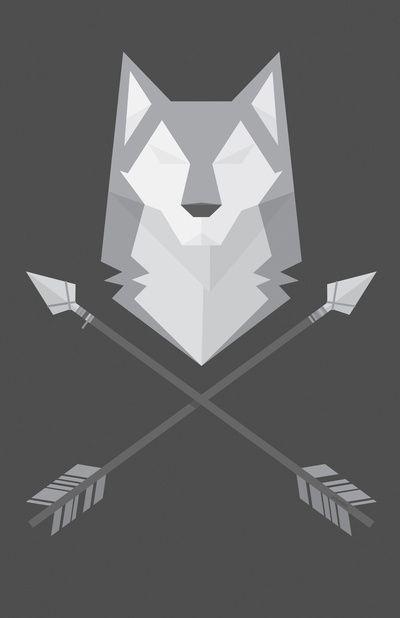 Geometric Wolf Art Print