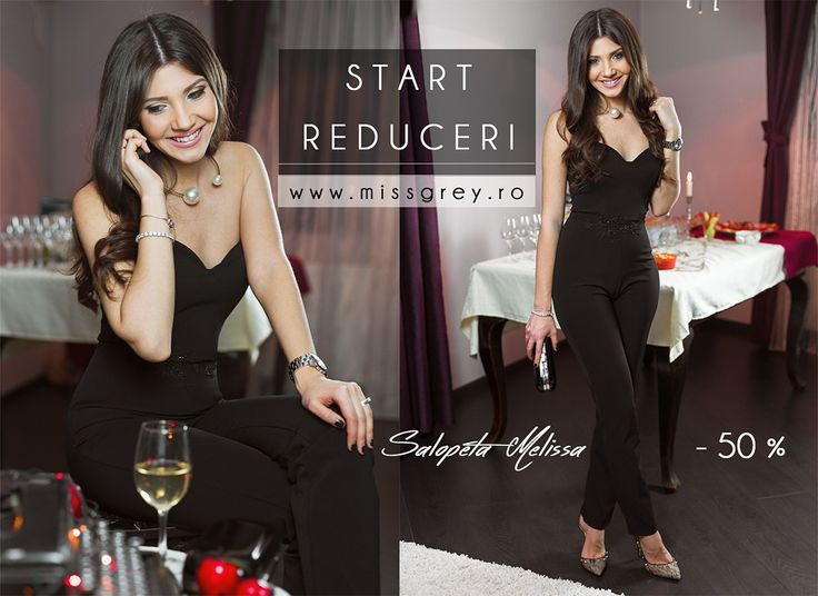 New Year, New You campaign is now on. Check our awesome surprises here: https://missgrey.ro/ro/super-reduceri-/34?utm_campaign=reduceri_ianuarie&utm_medium=regular_post&utm_source=pinterest_categorie  In love with this elegant black overall for women? Shop it here: https://missgrey.ro/ro/home/salopeta-melissa/248?utm_campaign=reduceri_ianuarie&utm_medium=regular_post&utm_source=pinterest_produs