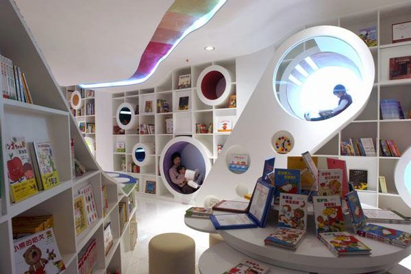 An amazing kid's bookstore in Beijing.    http://flavorwire.com/254434/the-20-most-beautiful-bookstores-in-the-world#8