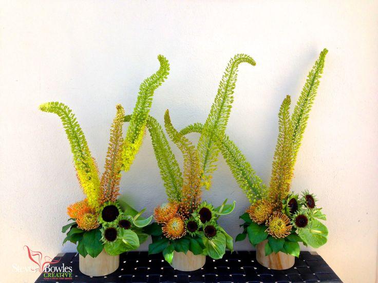 Modern flower arrangements of eremurus protea s and