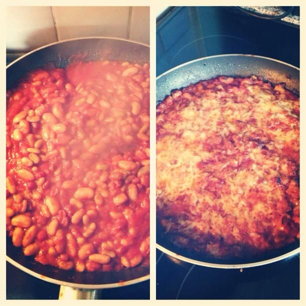 Beans, beans, they're good for your heart! The more you eat, the more you fart! Well, I'm not owning up to anything here, but I will tell you I love these quick baked beans! Jamie Oliver again - 15...