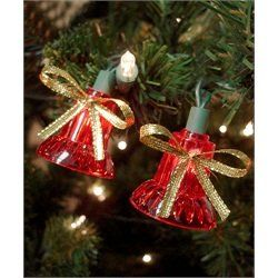 MUSICAL RED BELL CHRISTMAS STRING LIGHT SET PLAYS 25 CLASSIC CHRISTMAS SONGS WITH STEADY, FLASHING, DANCING OR CASCADING LIGHTS >>> Want to know more, visit