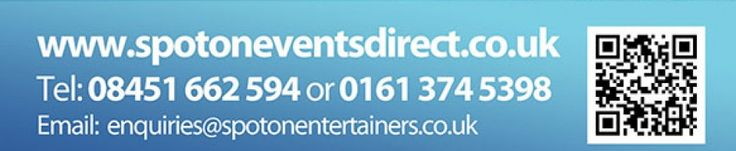 Look Alike | Entertainment | Manchester | Corporate Events | Book Now. If you're looking for Look Alike entertainment in the North West you've come to the right place. Check out Spot On Entertainment Ltd for all your entertainment needs. And if you are an aspiring or an established entertainer give us a call. 0161 374 5398.