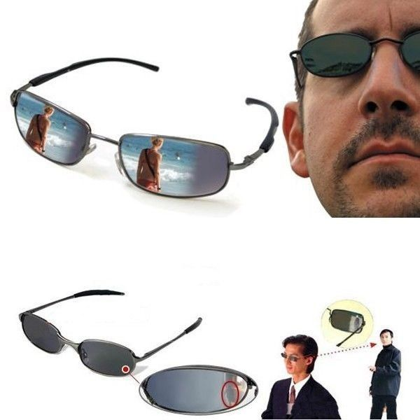Rearview Mirror Anti Track Glasses Back Sight Watch  Ant-UV Sunglasses  100% new Brand. This is a Spy Glasses/Rearview Mirror look like an ordinary pair of sun  glasses.