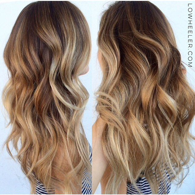 how to get caramel colored highlights at home