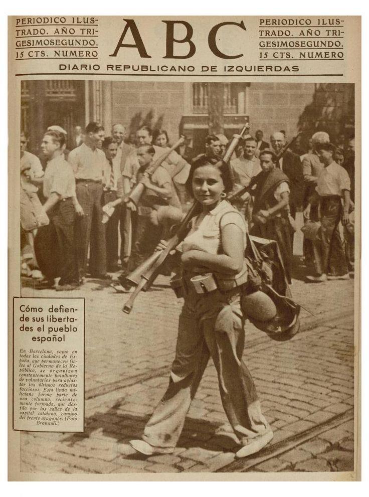 Spanish Civil War 1936-1939, ABC d'esquerres August, 1936. Photo by Josep Brangulí (Spanish, 1879-1945). Madrid.