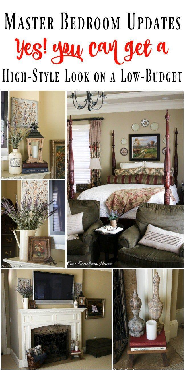 Budget Friendly Master Bedroom Updates416 best Home Decor Ideas images on Pinterest   Farmhouse style  . Glam Bedroom On A Budget. Home Design Ideas