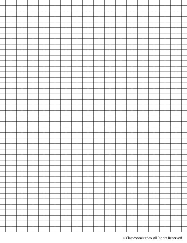 25 inch grid paper