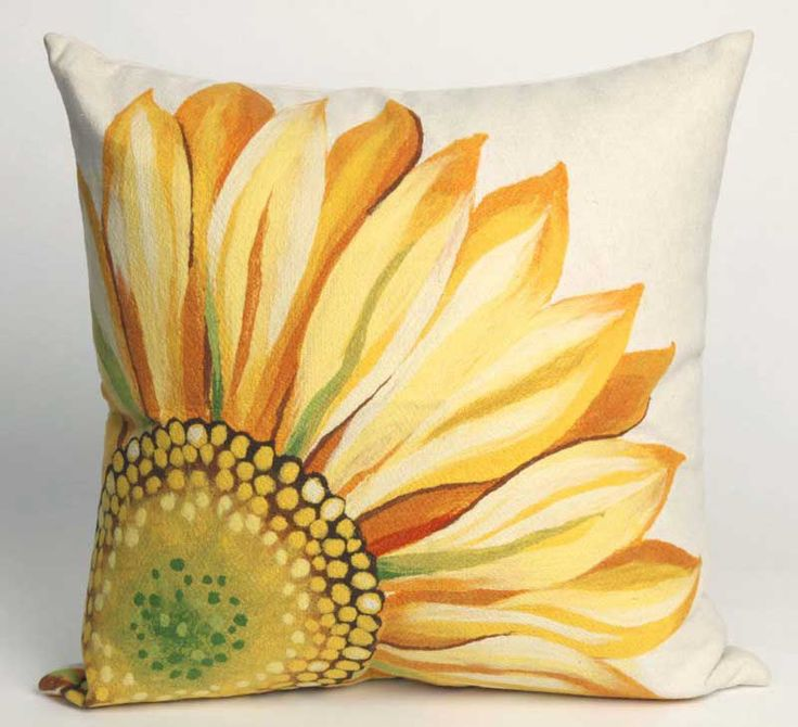 Hand Painted Sunflower Pillow