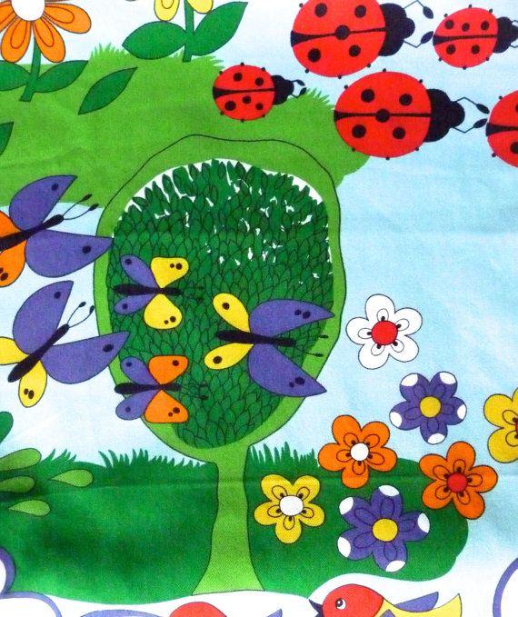 Ladybird Print Cotton Fabric Vintage Wilson Fabric