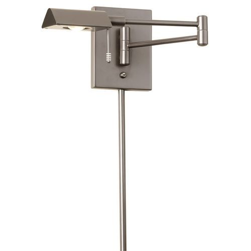 902WLED-SC | LED Swing Arm Wall Lamp with Cord Cover,Satin Chrome Finish - 902WLED-SC