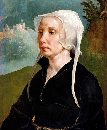 "Retrato de mujer (""Portrait of a woman""). Martin van Heemskerck. 1540. National Museum (Cardiff). https://painthealth.wordpress.com/2017/10/04/retrato-de-mujer/"