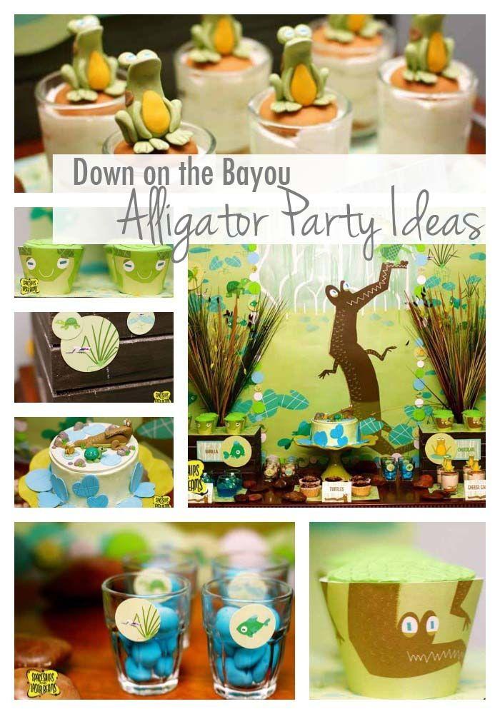 Alligator Party Ideas {Bayou Bash} - www.spaceshipsandlaserbeams.com: