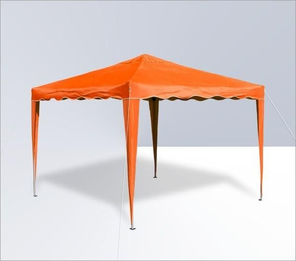 Alu/Metall Faltpavillon 3x3 Meter Orange
