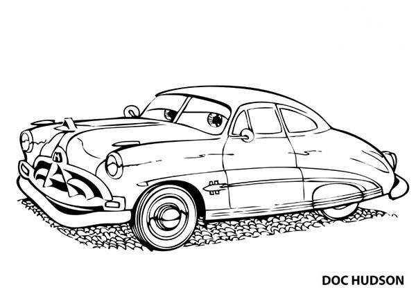 Doc Hudson Coloring Pages Cars Coloring Pages Super Coloring
