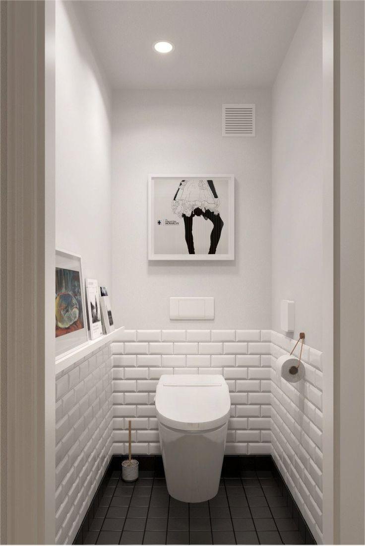 Дизайн туалетов маленьких размеров: 80 функциональных и компактных вариантов интерьера http://happymodern.ru/dizajn-tualetov-malenkix-razmerov-foto/ Туалет в светлых тонах и контрастным полом зрительно кажется шире Смотри больше http://happymodern.ru/dizajn-tualetov-malenkix-razmerov-foto/