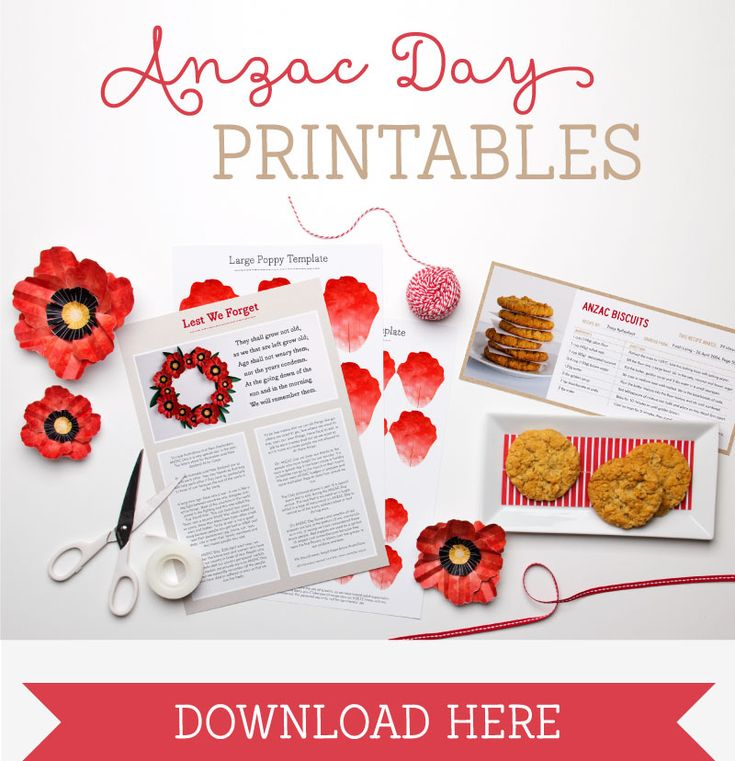 Anzac Day Printables ~ Tinyme