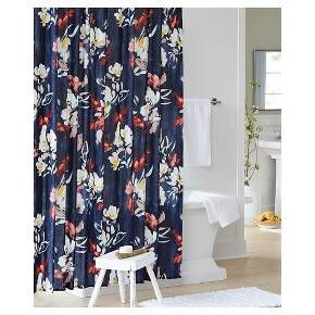 Floral Print Shower Curtain - Blue - Threshold™ : Target