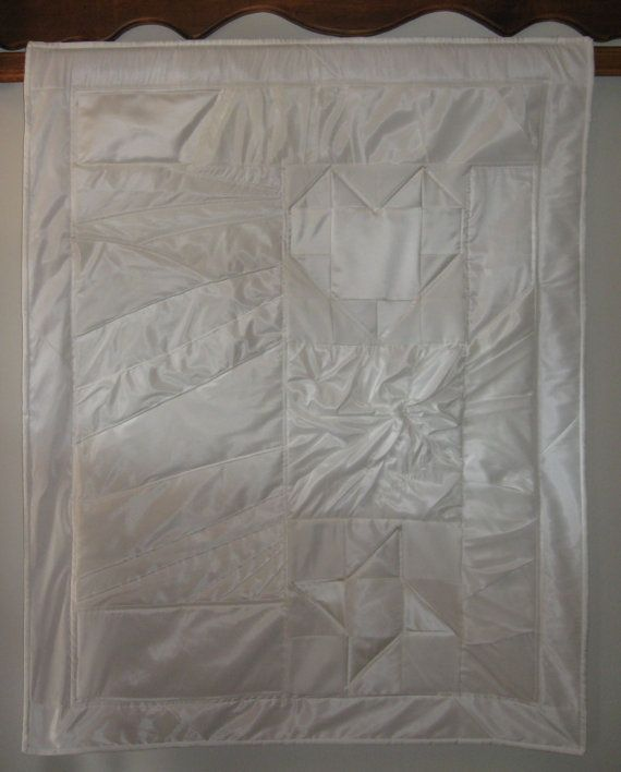 cmilbach quilt wedding dress repurposed