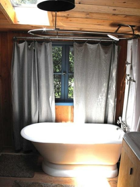 8 Best Clawfoot Tub Shower Rod Images On Pinterest